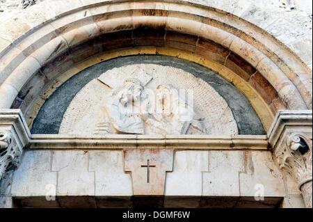Via Dolorosa, Jesus begegnet seiner Mutter Mary, armenische katholische Kapelle, Weg des Leidens Jesu, vierte Station - Stockfoto