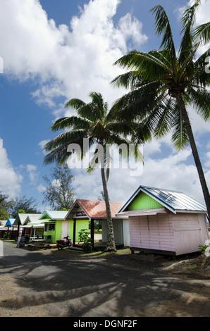 Bunte Hütten in Avarua Rarotonga-Cook-Inseln - Stockfoto