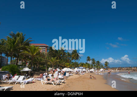 Condado Beach, San Juan, Puerto Rico, Caribbean - Stockfoto
