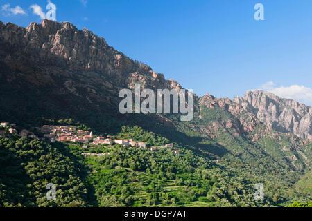 OTA, Gorges de Spelunca, Korsika, Frankreich, Europa - Stockfoto