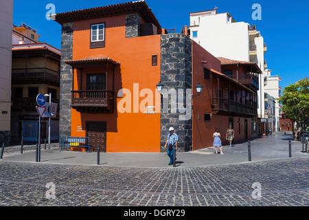 Altes Herrenhaus in der Altstadt, Puerto De La Cruz, San Telmo, Puerto De La Cruz, Teneriffa, Kanarische Inseln, - Stockfoto