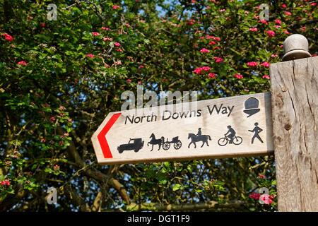 North Downs Way, starten des Weges in die Stadt, Via Francigena, Canterbury, Südostengland, administrative Grafschaft - Stockfoto