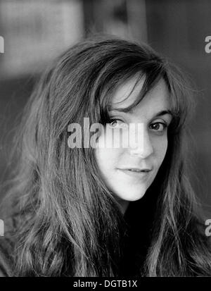Junge Frau, Porträt, Leipzig, DDR, historische Fotografie um 1972 - Stockfoto