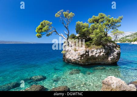 Kroatischen Strand an einem sonnigen Tag, Brela, Kroatien - Stockfoto
