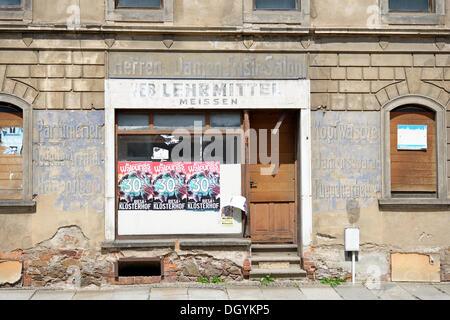 Alten shop, talstrasse Straße, Meißen, Sachsen - Stockfoto