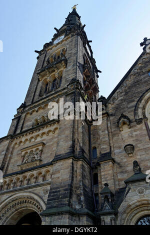Tower, Garnison Kirche st. martin, garnisonskirche, simultan, Dresden, Florenz an der Elbe, Sachsen - Stockfoto