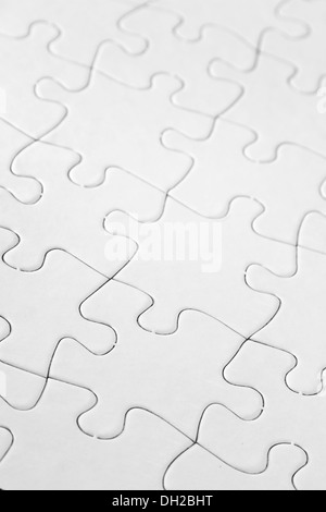 weie puzzle nahaufnahme von jigsaw puzzle muster stockfoto - Puzzle Muster