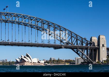Der Blick vom McMahons Point in Lavender Bay, Sydney, Australien - Stockfoto