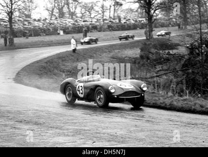 Ken Wharton Rennen in einem Aston Martin DB3S Veredelung 11. in der British Empire Trophy, Oulton Park, England - Stockfoto