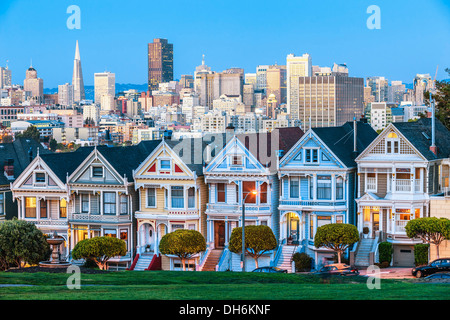 Die Painted Ladies of San Francisco, USA - Stockfoto
