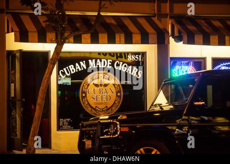 Ein Zigarrenladen in Hollywood Kalifornien am Sunset Blvd - Stockfoto