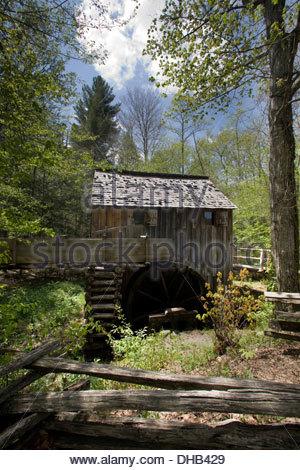 John Kabel Grist Mill, Cades Cove, Great Smoky Mountains Nationalpark - Stockfoto
