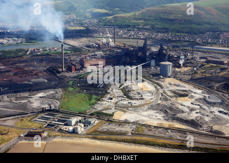 Tata Steel Works, Port Talbot Stockfoto