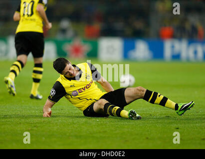 Dortmund, Deutschland. 6. November 2013. UEFA Champions League Spieltag 4, BV Borussia Dortmund - Arsenal FC 0: - Stockfoto