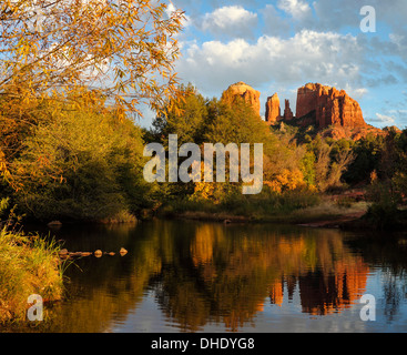 Cathedral Rock in Red Rock Crossing in Sedona - Stockfoto