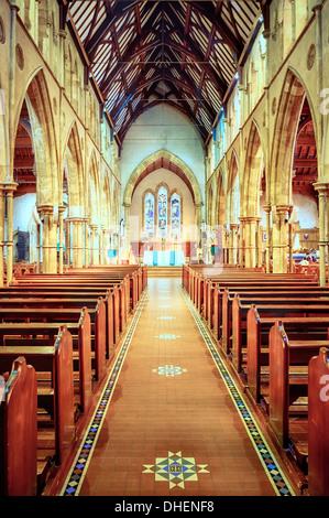 Gebete und Frieden in der glorreichen St. Frances Xavier Cathedral in South Australia - Stockfoto
