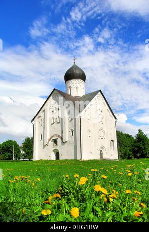 Kirche der Verklärung des Erlösers auf Iljina Straße in Weliki Nowgorod, Russland - Stockfoto
