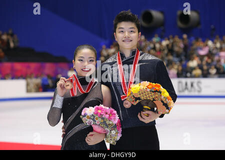 Yoyogi 1. Gymnasium, Tokio, Japan. 10. November 2013. Maia Shibutani & Alex Shibutani (USA), 10. November 2013  - Stockfoto