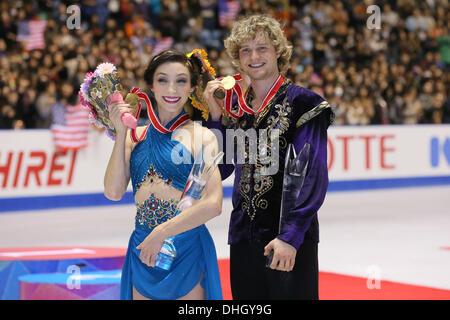 Yoyogi 1. Gymnasium, Tokio, Japan. 10. November 2013. Meryl Davis & Charlie White (USA), 10. November 2013 - Eiskunstlauf: - Stockfoto