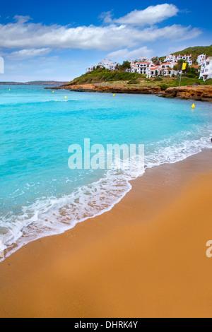 Fornells Menorca Cala Tirant Beach at Balearen Spanien - Stockfoto