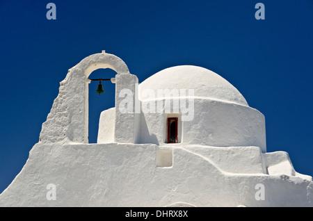 Griechisch-orthodoxe Kirche, Mykonos Stadt, Mykonos - Stockfoto