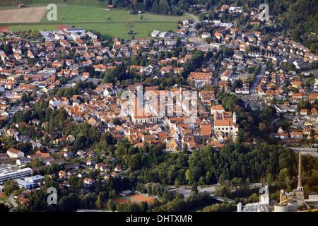 Luftaufnahme von Schongau - Stockfoto