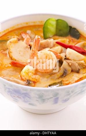 Tom Yam Nam Khon Suppe - Stockfoto