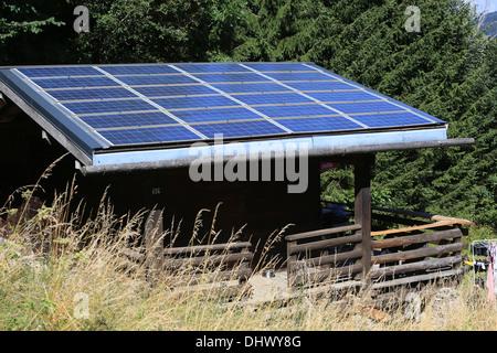 Thermische Solar-Panel. - Stockfoto