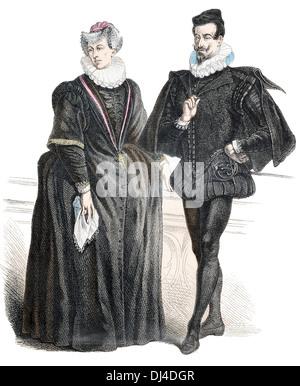 Deutscher Patrizier aus dem 16. Jahrhundert - Stockfoto