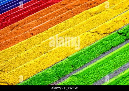 abstrakte, farbenfrohe Schritte - Stockfoto