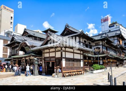 Japan shikoku matsuyama meiji periode holz dogo onsen for Traditionelle japanische architektur
