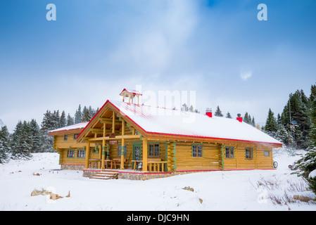 Mount Assiniboine Lodge, Mount Assiniboine Provincial Park, Britisch-Kolumbien, Kanada - Stockfoto