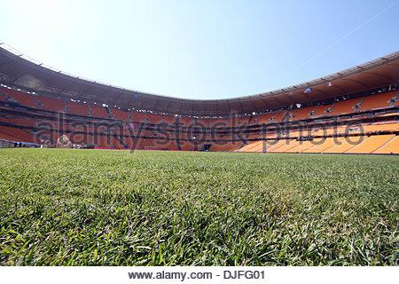 Eine allgemeine Ansicht des Soccer City Stadium in Johannesburg vor dem Eröffnungsspiel... Welt-Cup-Vorschau-Bilder... - Stockfoto