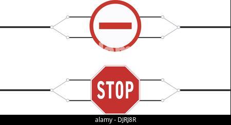 Zeichen Reiseverbot für das banner - Stockfoto