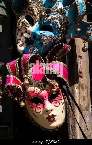 APAIR der traditionellen venezianischen Karneval Masken, Veneto, Italien. - Stockfoto