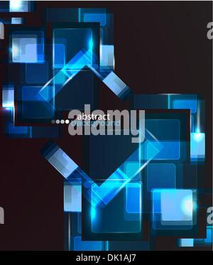 Vektor Technologie abstrakten Hintergrund gemacht aus Glasbausteinen - Stockfoto