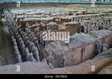 Terrakotta-Krieger, in der Nähe von Xi ' an, China - Stockfoto