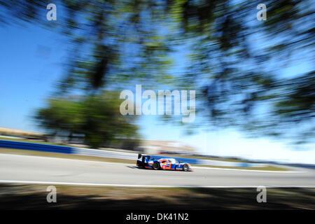 17. März 2011 - fährt Sebring, Florida, USA - Oreca Fahrer NICOLAS LAPIERRE der Peugeot 908 während des Trainings - Stockfoto