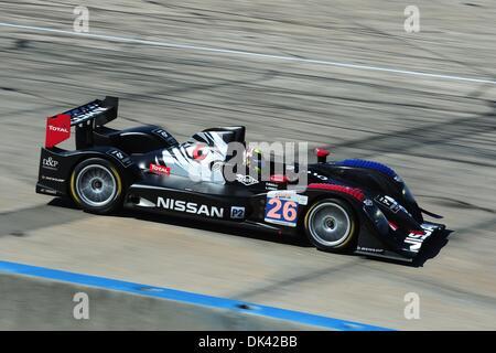 18. März 2011 - Sebring, Florida, USA - Signatech Nissan Fahrer SOHEIL AYARI, von Frankreich, während des Trainings - Stockfoto