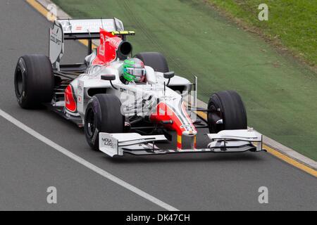 26. März 2011 - Melbourne, Victoria, Australien - 2011 australischen Formel 1 Grand Prix. Formel 1 Training in der - Stockfoto