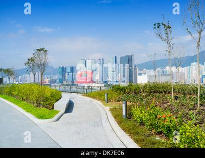 Öffentlichen Garten und Park am Dach des neuen Kai Tak Cruise Terminal in Hong Kong - Stockfoto