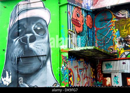 Graffiti, Reykjavik, Island - Stockfoto