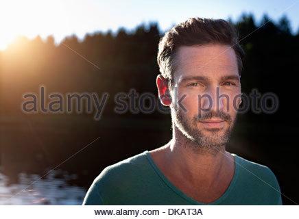 Porträt des reifen Mannes See - Stockfoto