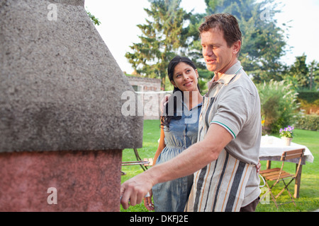 grill im garten vektor abbildung bild 79212175 alamy. Black Bedroom Furniture Sets. Home Design Ideas