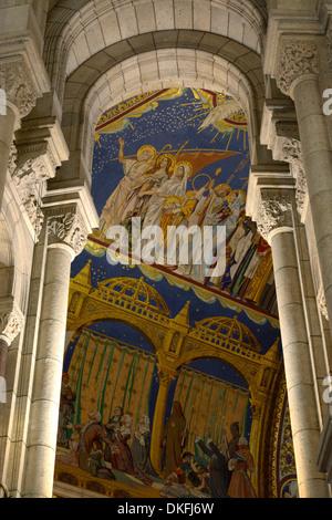 Interieur, Sacré-Cœur, Montmartre, Paris, Île-de-France, Frankreich - Stockfoto