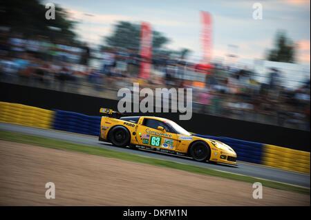 13. Juni 2009 - Mans Le, Frankreich - #63 Corvette C6. R während der 24 Stunden von Le Mans, Samstag, 13. Juni 2009, - Stockfoto