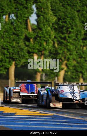 13. Juni 2009 - Le Mans, Frankreich - Race Action während der 24 Stunden von Le Mans, Samstag, 13. Juni 2009, in - Stockfoto