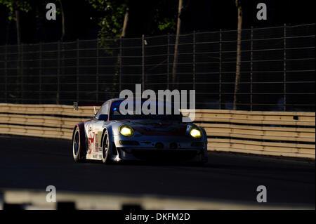 13. Juni 2009 - Mans Le, Frankreich - #80 fliegenden Eidechsen Porsche bei den 24 Stunden von Le Mans, Samstag, - Stockfoto
