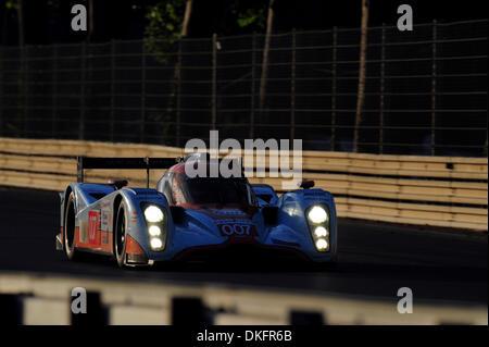 13. Juni 2009 - Le Mans, Frankreich - #007-Lola-Aston Martin während der 24 Stunden von Le Mans, Samstag, 13. Juni - Stockfoto