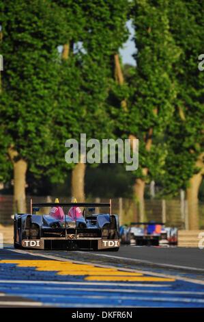 13. Juni 2009 - Mans Le, Frankreich - #1 Audi Sport R15 während der 24 Stunden von Le Mans, Samstag, 13. Juni 2009, - Stockfoto